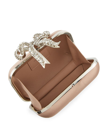 905baf038d0 Image 2 of 3  Cloud Bos Satin Clutch Bag with Crystal Bow