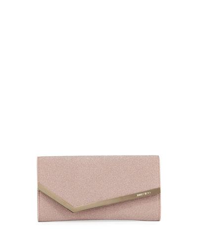 Emmie Fine Glitter Fabric Clutch Bag
