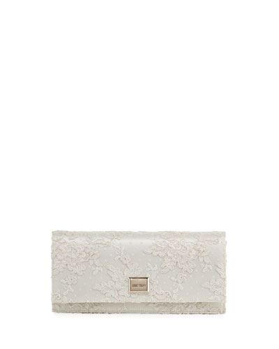 Lilia Floral Lace Clutch Bag