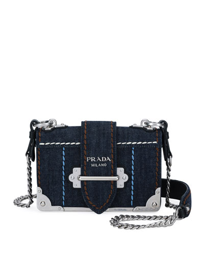 Prada Small Denim Cahier