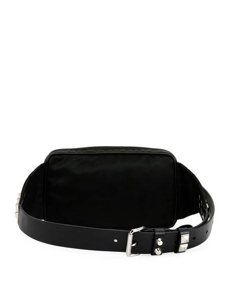 1d6eff9ee825 Prada Prada Black Nylon Belt Bag With Studding | Neiman Marcus Prada Cahier  Small Velvet Convertible ...