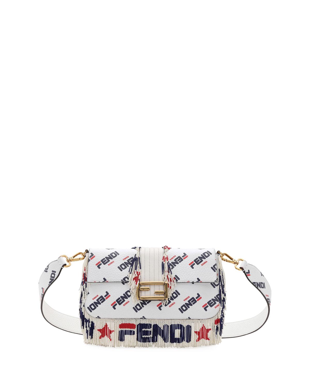 a59639d68539 Fendi Baguette Fendi Mania Beaded Fringe Shoulder Bag