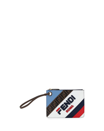 Fendi Mania Small Flat Clutch Bag