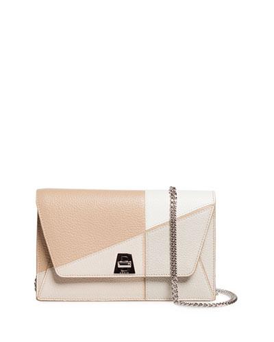 Anouk Sunrise Calf Leather Envelope Crossbody Bag