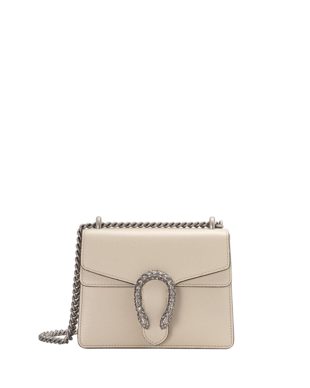 2fbb3c73524 Gucci Dionysus Mini Leather Shoulder Bag with Crystal Tiger Spur ...