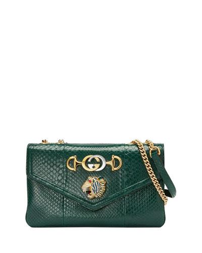 Lizard Embellished Shoulder Bag