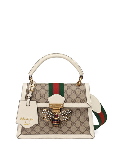 cdb5366ac825 Gucci Queen Margaret Small GG Supreme Top-Handle Bag from Neiman ...