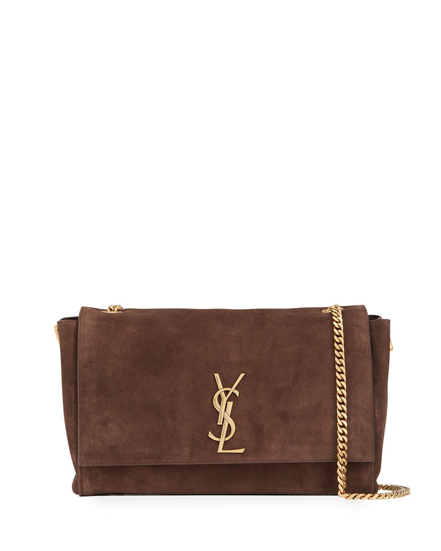 cd871ae0fbb22 Saint Laurent Soft Kate Medium Reversible YSL Monogram Crossbody Bag ...