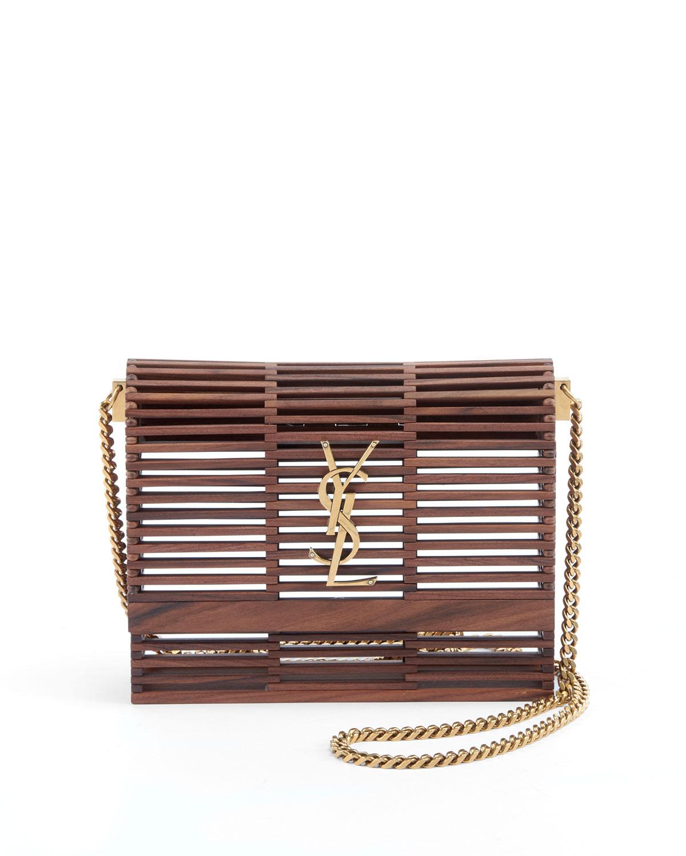 Saint Laurent Small Kate Wooden Weave Box Bag  8dacb10cd782c