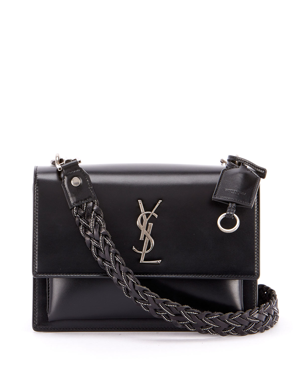 Saint LaurentSunset Medium YSL Monogram Flap Shoulder Bag - Silver Hardware bcebf9012a47a