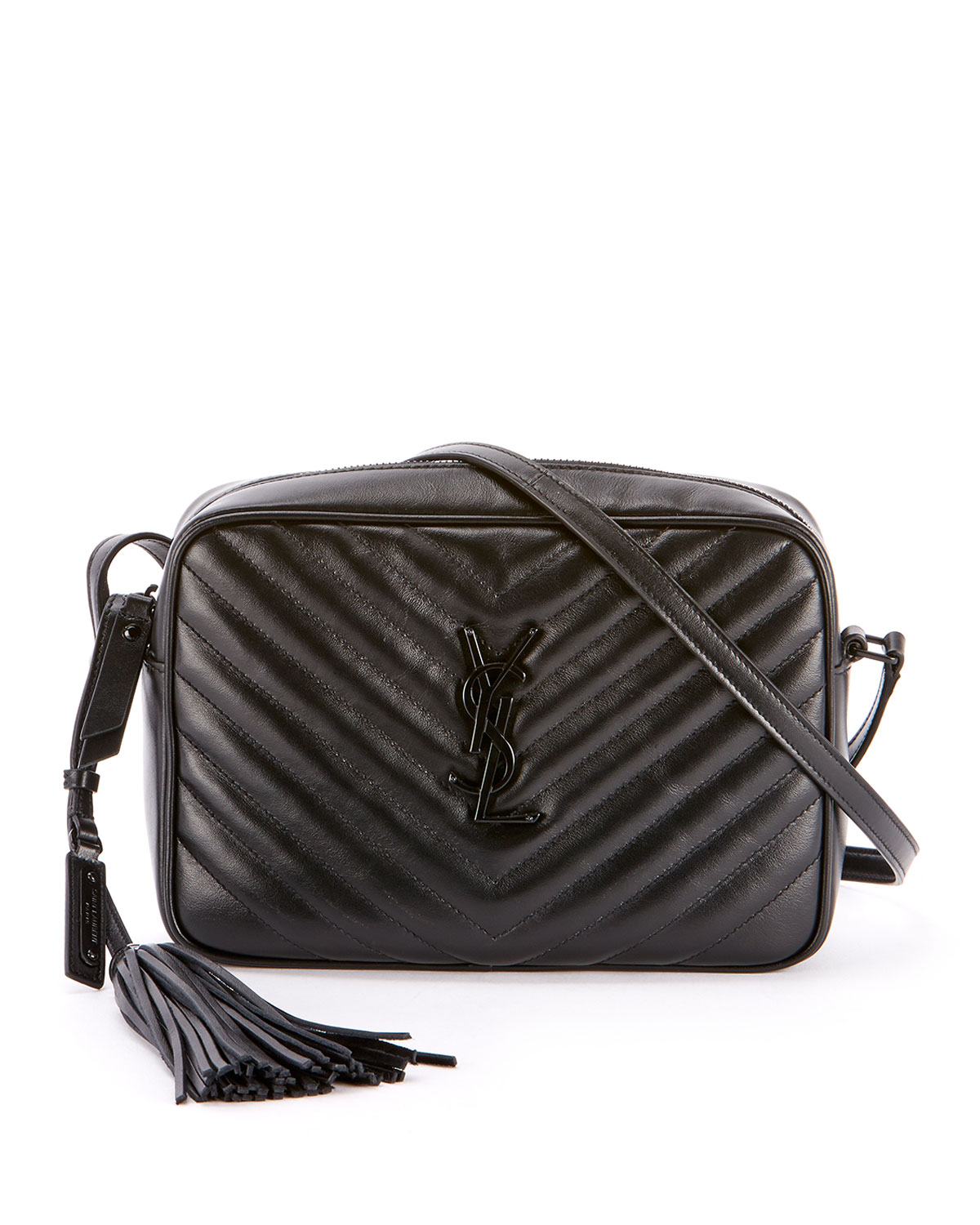 902597ddba37 Saint LaurentLoulou Monogram YSL Medium Chevron Quilted Leather Camera  Shoulder Bag - Black Hardware