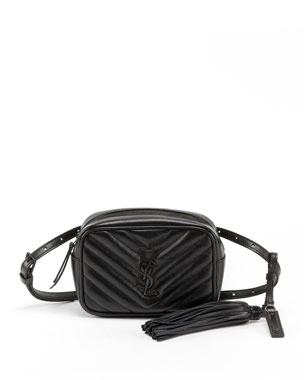 f9bd438edde Saint Laurent Lou Monogram YSL Quilted Leather Belt Bag - Black Hardware