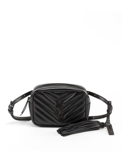 Lou Monogram YSL Quilted Leather Belt Bag - Black Hardware