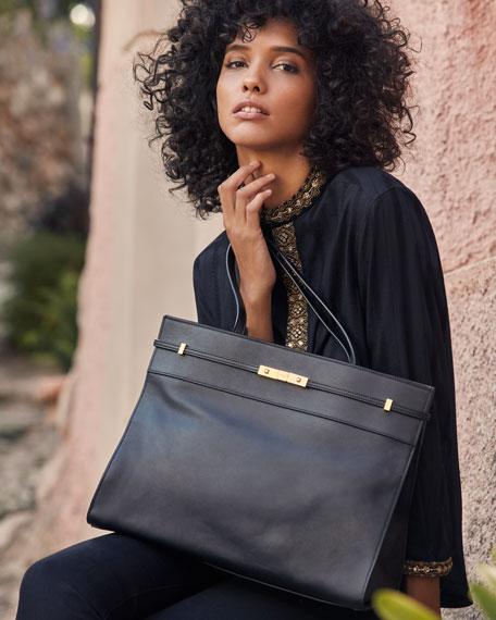 1ab28bce219 Image 2 of 2: Saint Laurent Manhattan Medium Belted Leather Shoulder Tote  Bag - Bronze