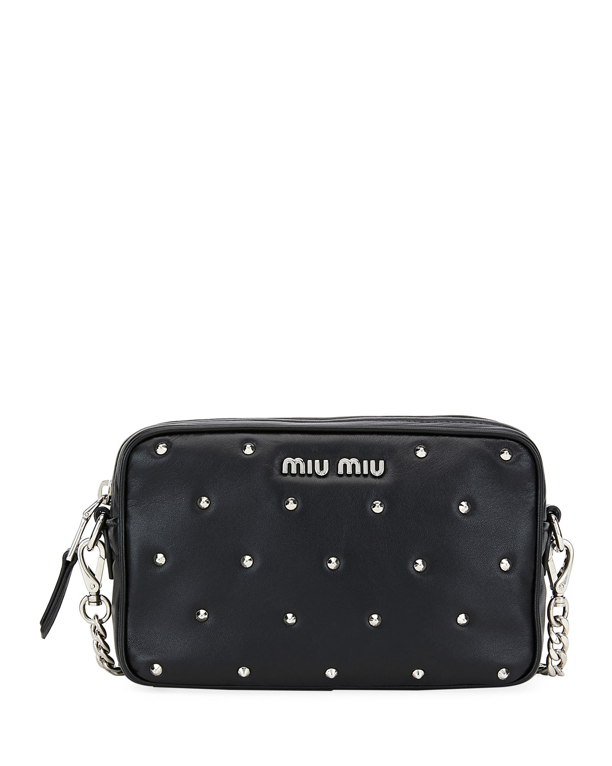 659d70dd5513 Miu Miu Jeweled-Stud Leather Crossbody Bag