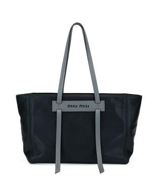 18cecc72e643 Miu Miu Grace Lux Leather Tote Bag