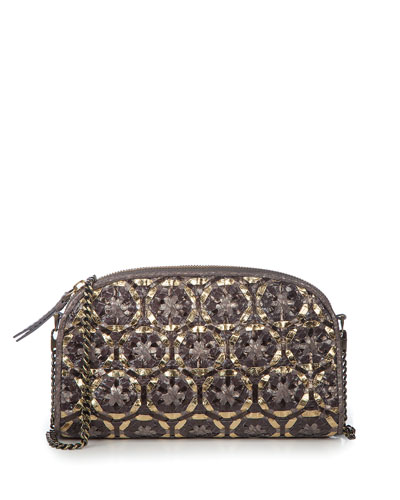 Gilda Woven Embellished Shoulder Bag