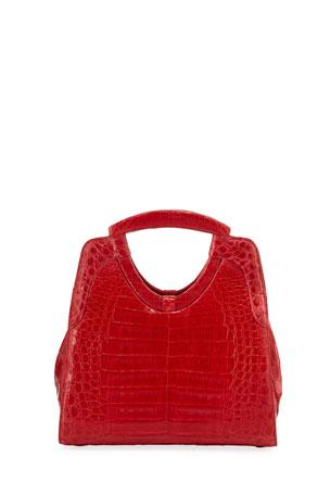 Nancy Gonzalez Small Keyhole Crocodile Top-Handle Bag