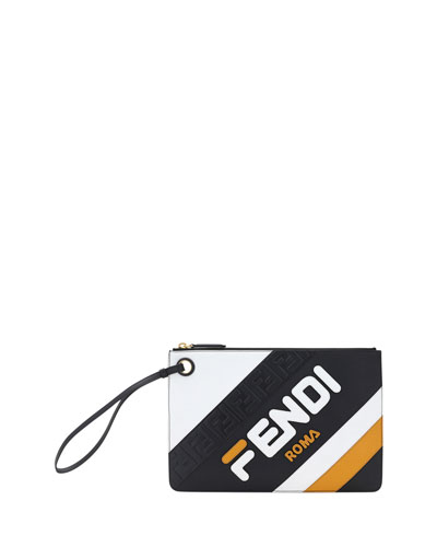 Fendi Mania Medium Flat Clutch Bag
