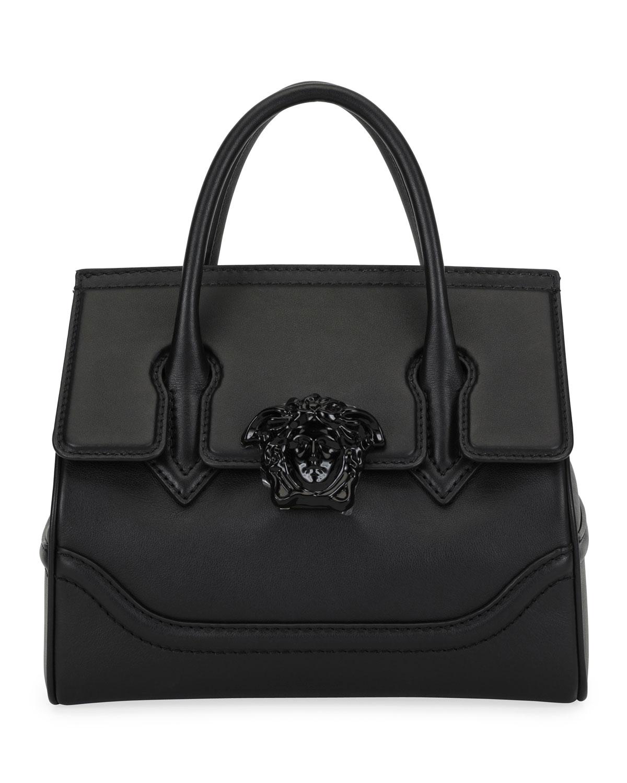 ddc9ac9978d Versace Palazzo Empire Medium Leather Top-Handle Shoulder Bag ...