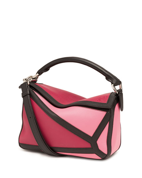Loewe Puzzle Graphic Small Patchwork Satchel Bag