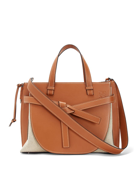Loewe Gate Leather Top-Handle Tote Bag