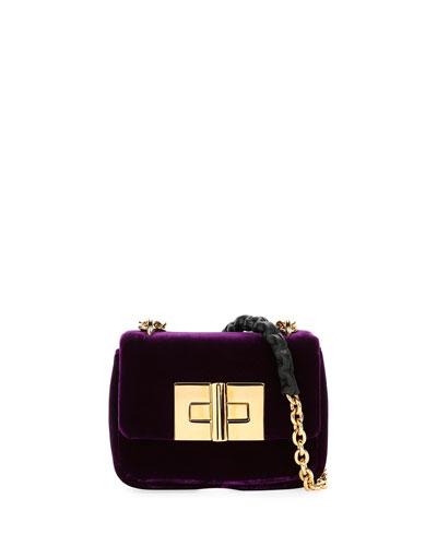Natalia Mini Soft Velvet Shoulder Bag