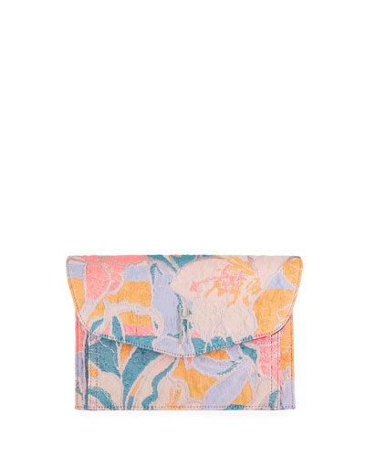 Bobby Psychedelic Flower Tech Jacquard Clutch Bag