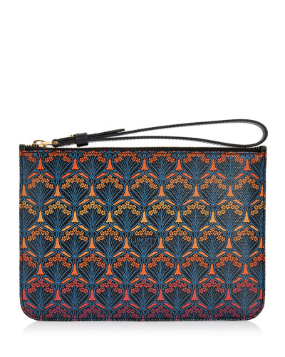 Logo Wristlet Clutch Bag - Dusk