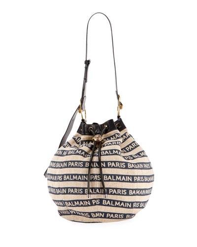 Medium Canvas Bucket Bag