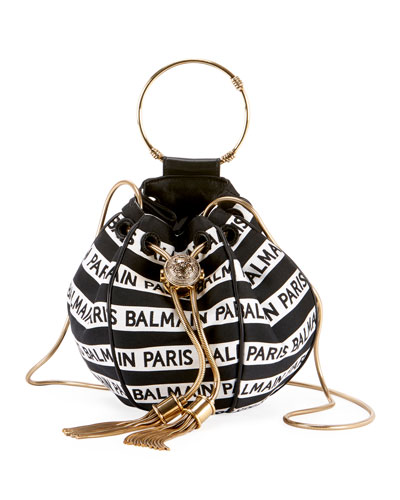 Mini B Jacquard Bucket Bag