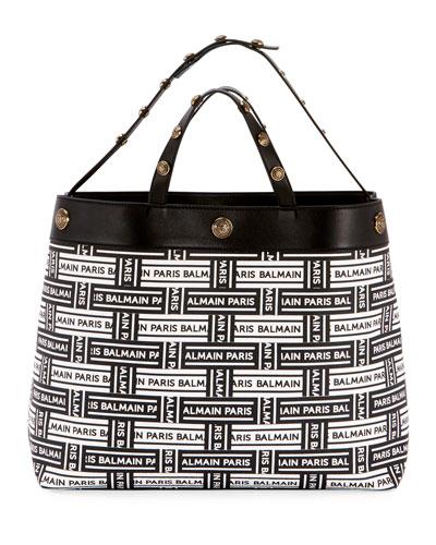 Toile Enduite Logo Tote Bag