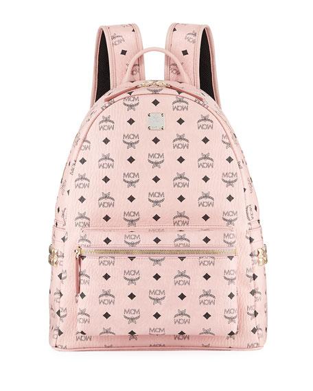 MCM Stark Medium Canvas Backpack