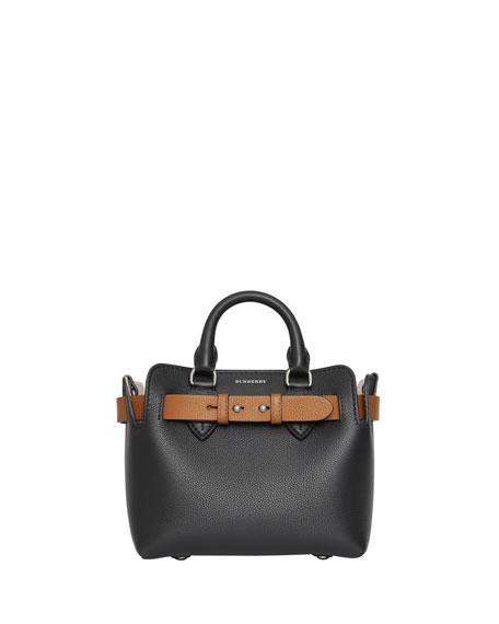 Burberry Baby Belted Marais Leather Contrast Tote Bag