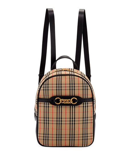 Burberry Link 1983 Check Backpack