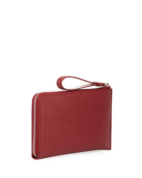 con en cuero billetera rojo Burberry cremallera Nolan de w4pq6Ix