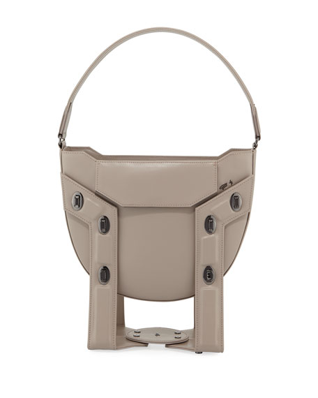 Aerial Leather Framed Tote/Hobo Bag with Stand