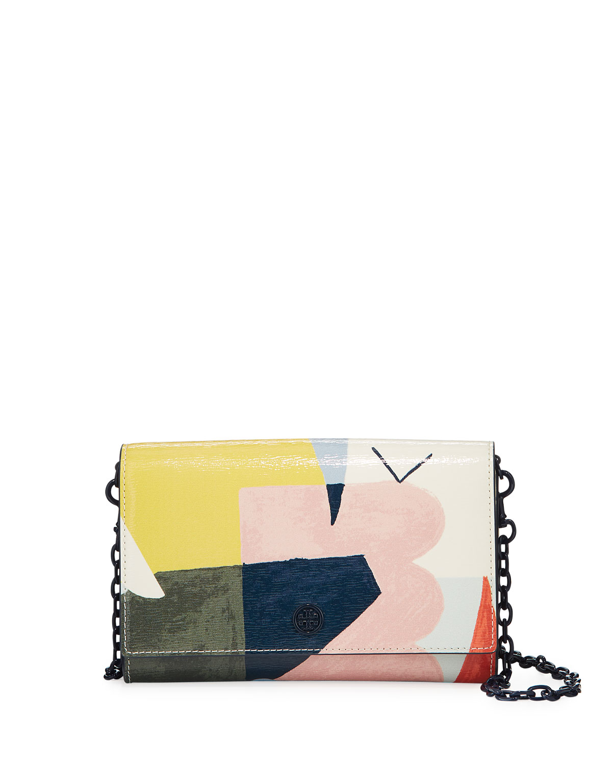 Robinson Mixed Media Chain Wallet by Tory Burch