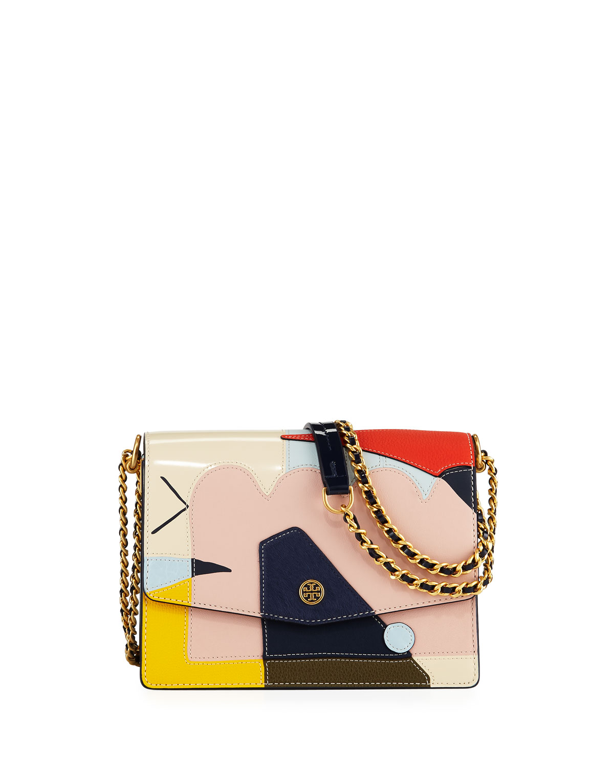 Robinson Convertible Mixed Media Shoulder Bag by Tory Burch