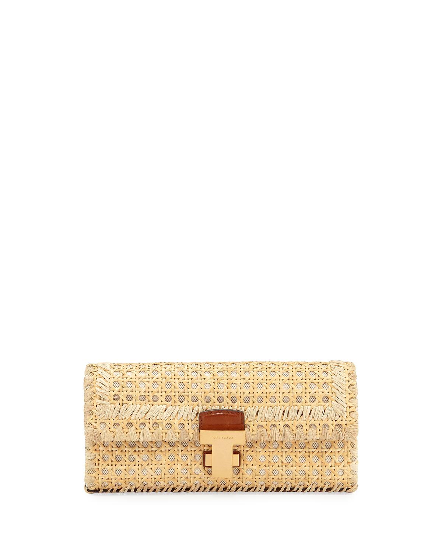 Tory Burch Juliette Rattan Clutch Bag Neiman Marcus