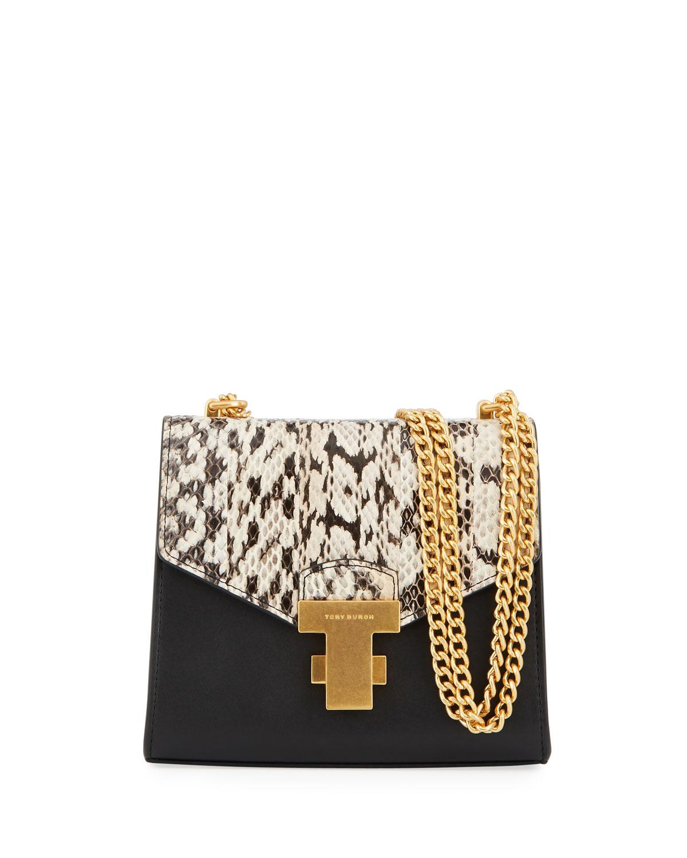 f43ebc50b7db Tory Burch Juliette Mini Exotic Chain Shoulder Bag