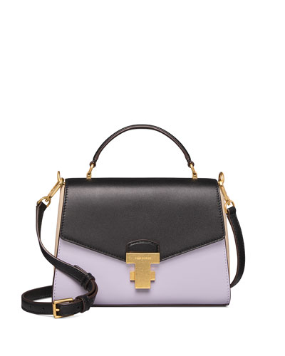 Tory Burch Juliette Small Colorblock Top Handle Satchel Bag From