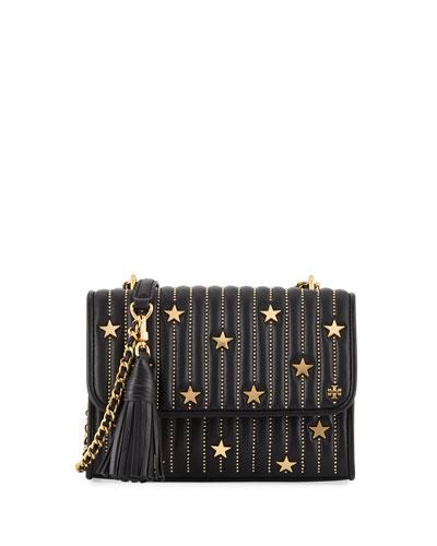 aae11508f219 Tory Burch Fleming Small Convertible Star-Stud Bag