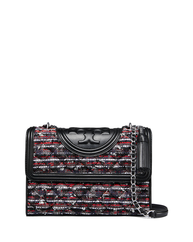 a4b72849f00b Tory Burch Fleming Convertible Tweed Shoulder Bag