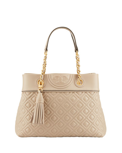 109558eed11f Tory Burch Fleming Small Quilted Leather Tote Bag