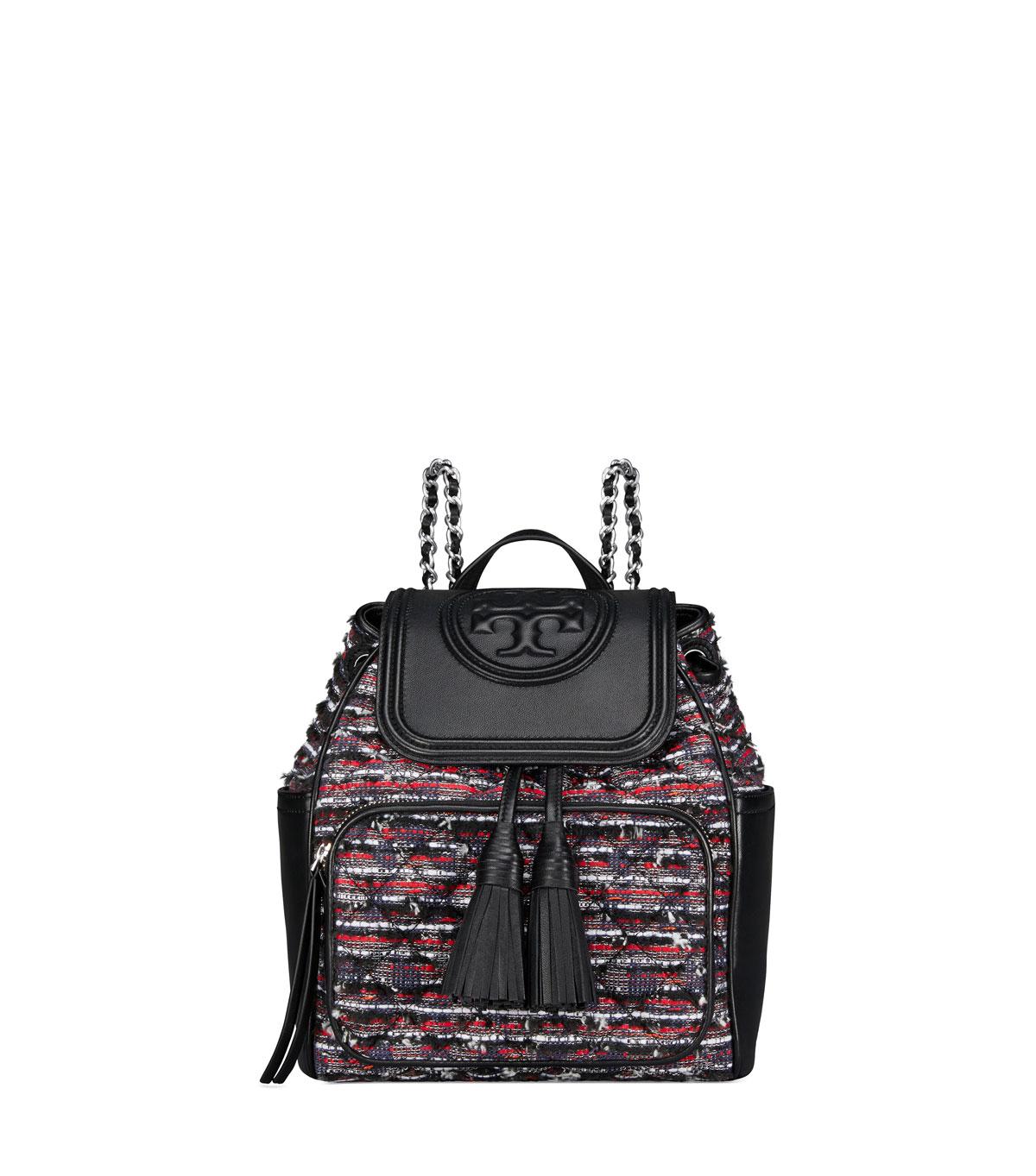 9ac93cc350e1 Tory Burch Fleming Tweed Backpack Bag
