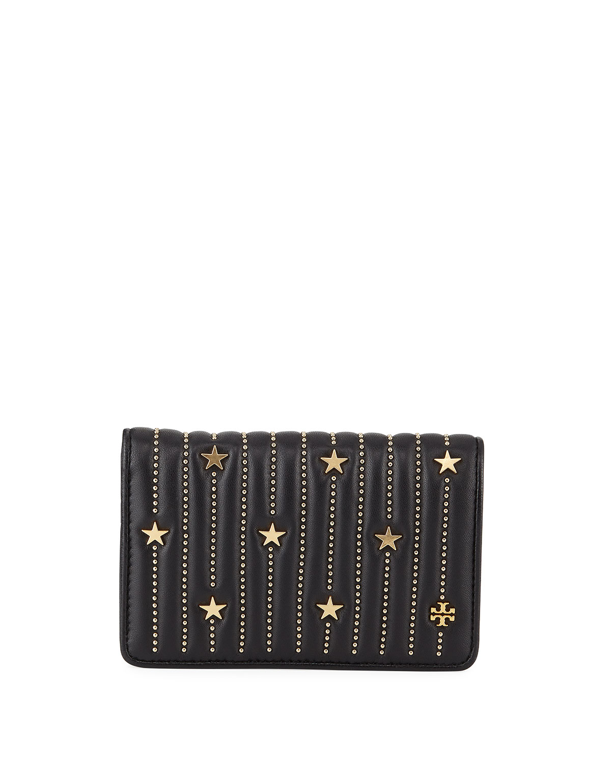 07ca4d5f638 Tory Burch Fleming Medium Slim Star-Stud Wallet