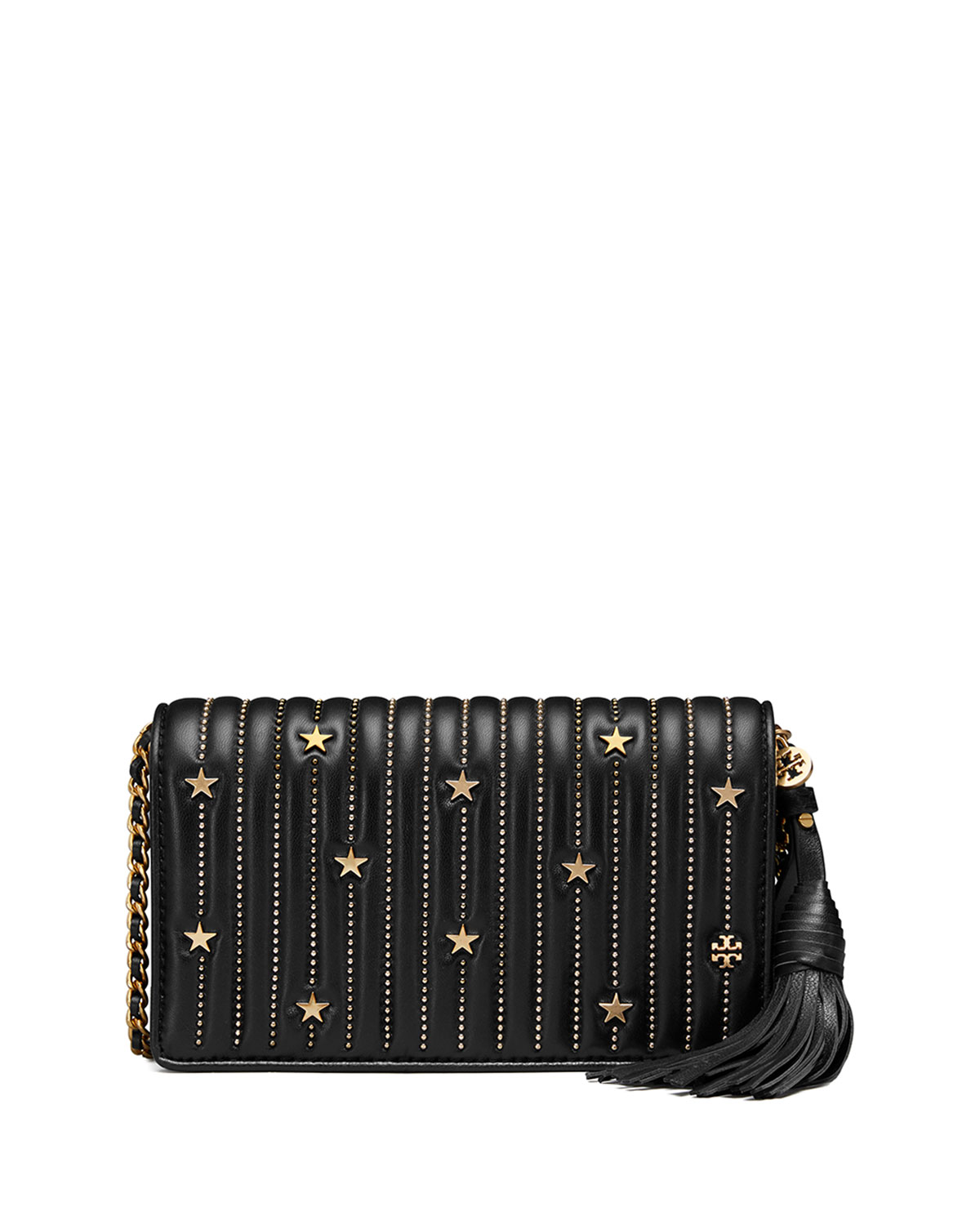bac152b27594 Tory Burch Star Stud Flat Crossbody Wallet