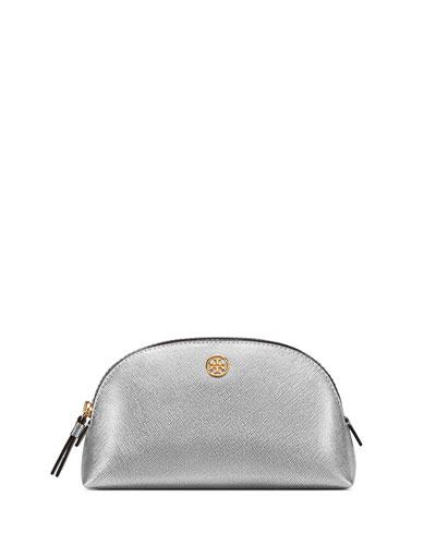 Robinson Small Metallic Leather Makeup Bag