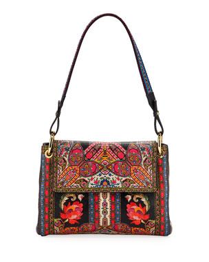 Etro Sottobraccio Foulard Pelle Shoulder Bag